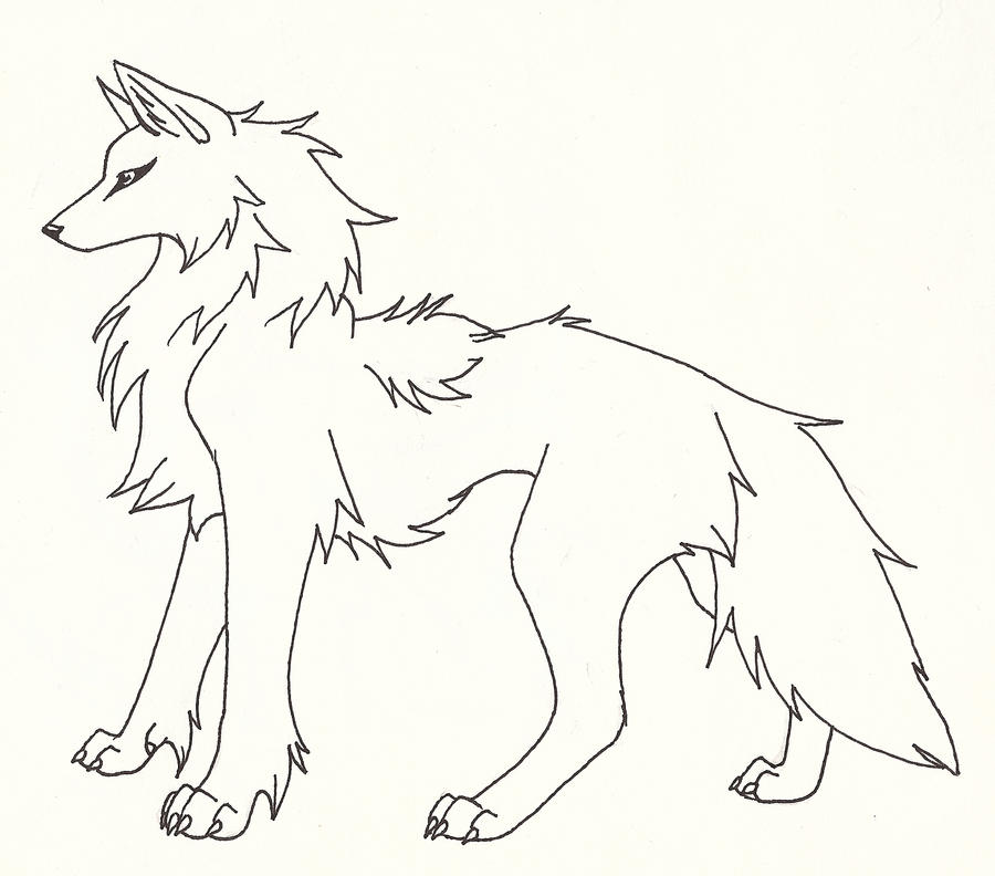Wolf Lineart : She wolf line art pictures to pin on pinterest daddy