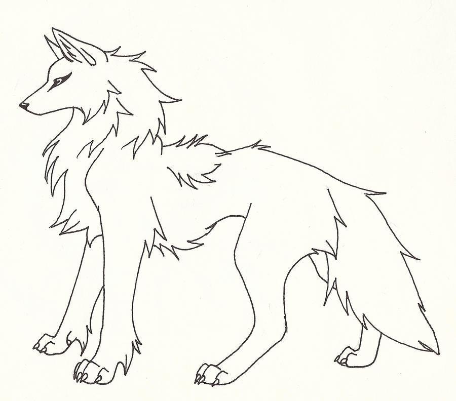Line Art Wolf : Wolf line art by captainmorwen on deviantart