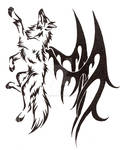 Winged Wolf Tattoo Commission