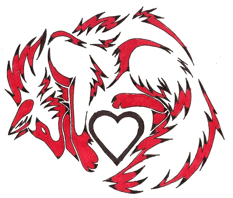Heart Fox Tattoo by CaptainMorwen