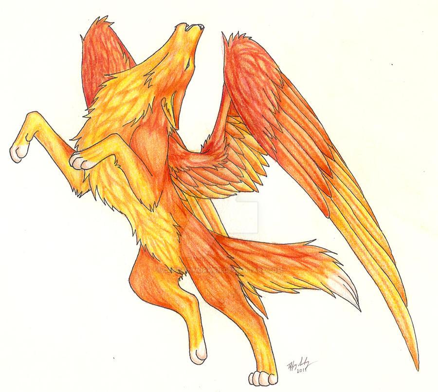Phoenix Wolf by CaptainMorwen on - 256.2KB