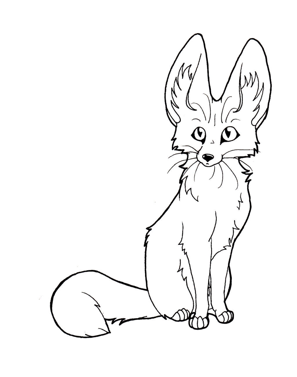 Line Art Deviantart : Fennec line art by captainmorwen on deviantart