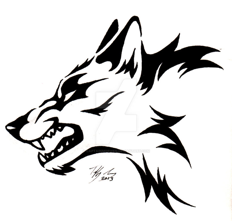 36e6e15040572 Snarling Wolf Head Tattoo by CaptainMorwen on DeviantArt