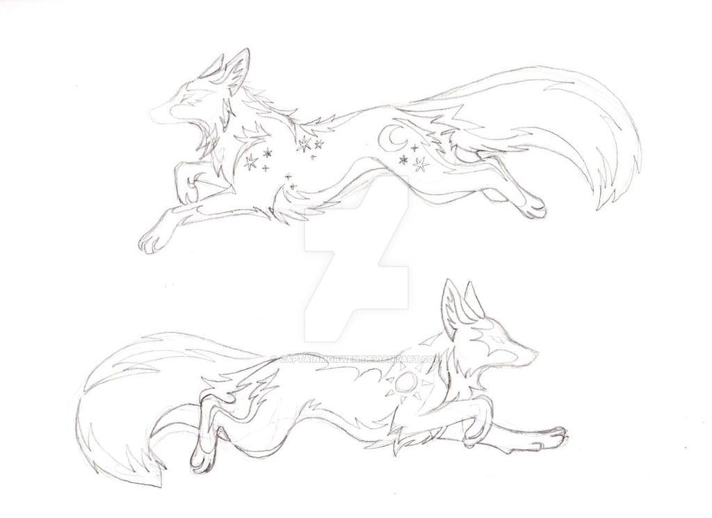 Fox sketches 2 by CaptainMorwen