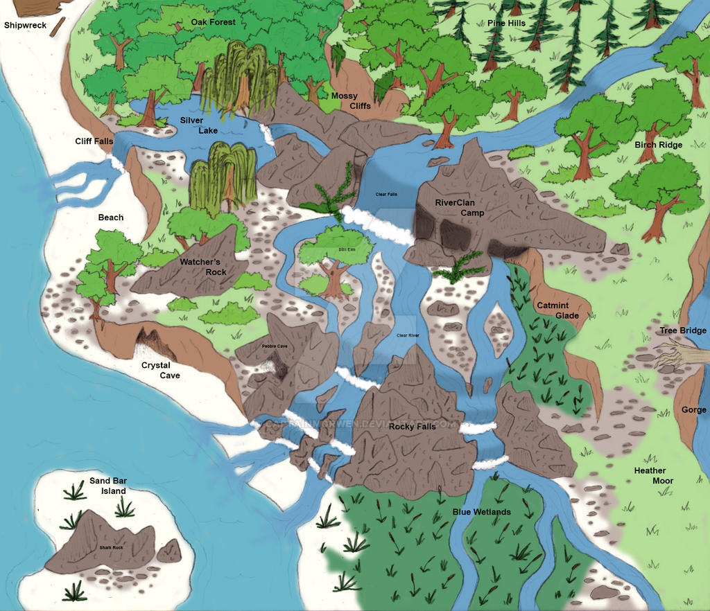 Warriors Thunderclan Camp Map