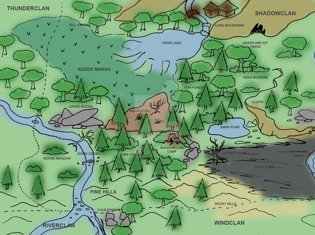 ShadowClan Map Concept by CaptainMorwen