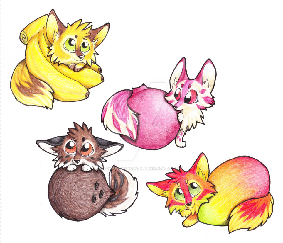 Fruit Foxes - 1 by CaptainMorwen