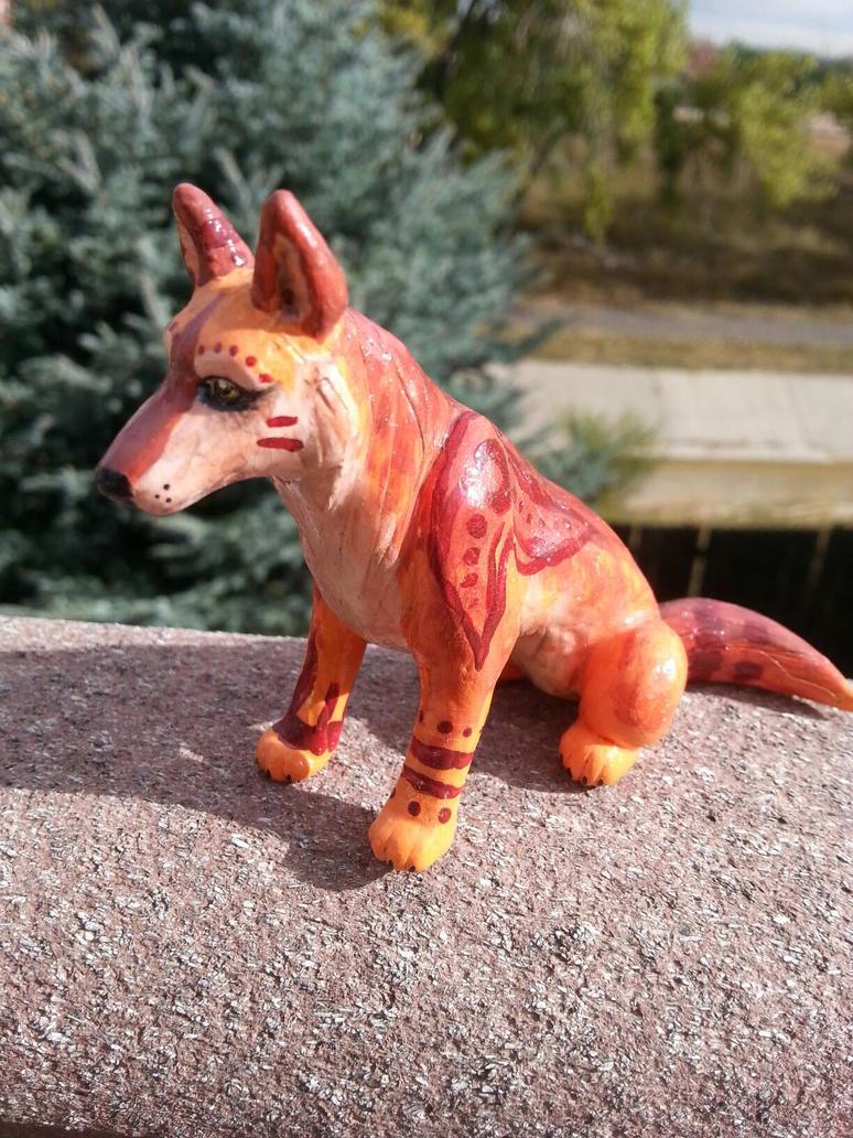 Tribal Dingo Sculpture by CaptainMorwen
