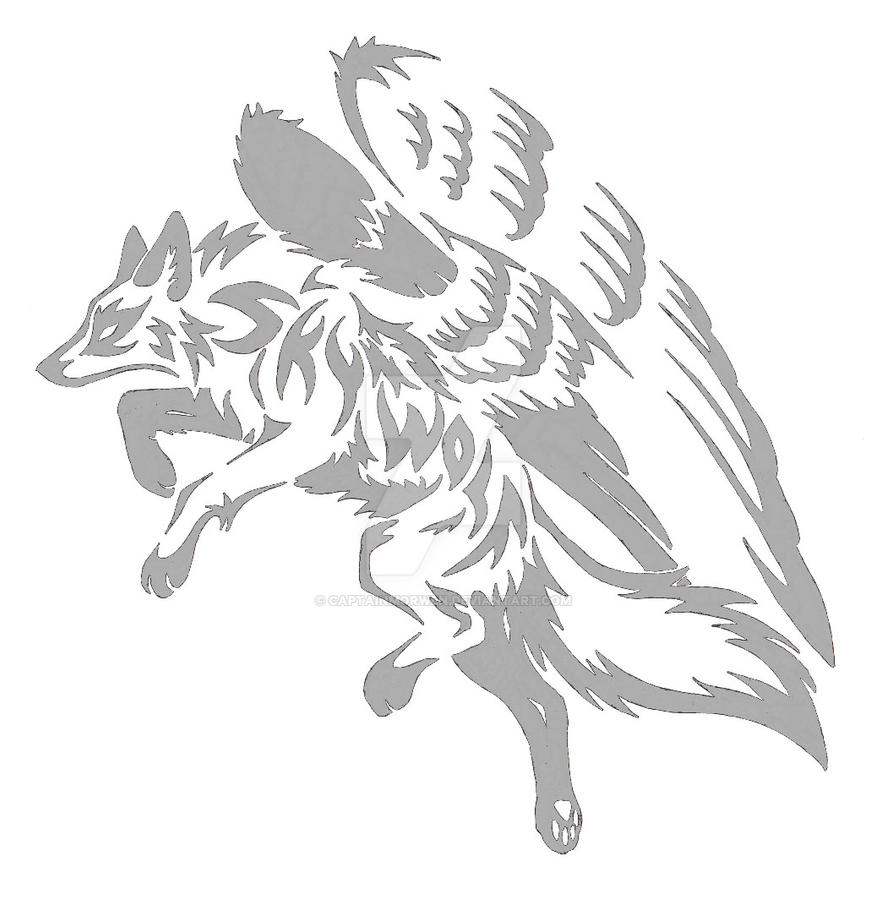 Sky Wolf Design - Grey - Commission by CaptainMorwen
