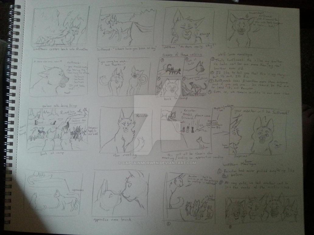 RiverClan Intro Panel Storyboard by CaptainMorwen