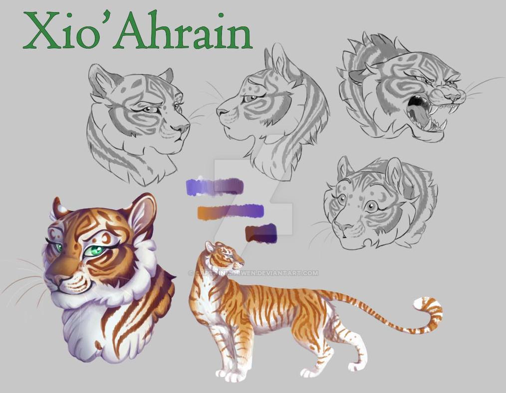 XioAhrain - Character Sheet by CaptainMorwen