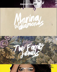 +The family jewels font / Marina and the diamonds