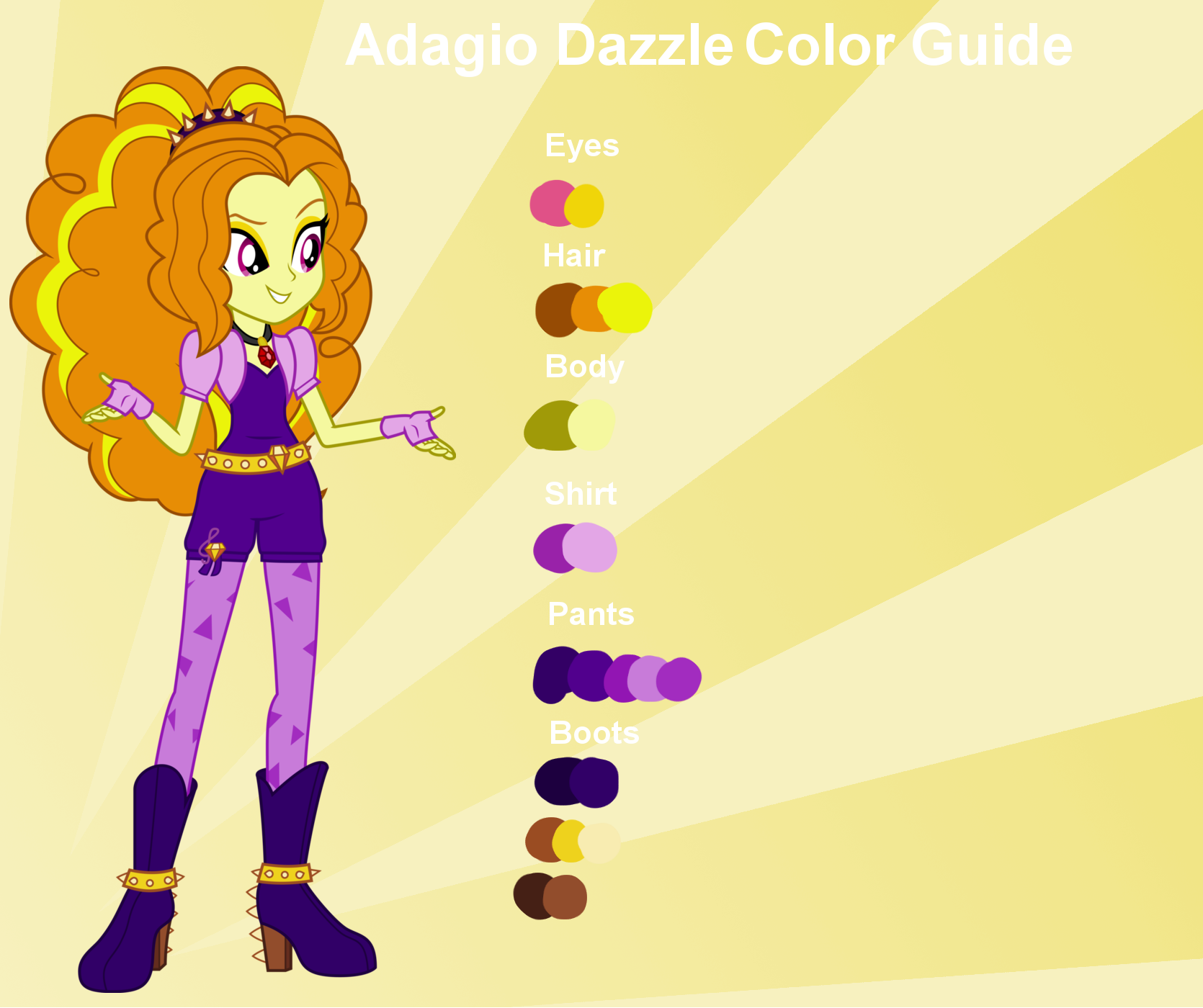Adagio Dazzle Color Guide By Nightfang123 Adagio Dazzle Color Guide By  Nightfang123