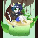Marshmallow Chibi x mint milkshake by lemon-mochi