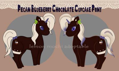 Pecan Blueberry Chocolate Cupcake Pony by lemon-mochi