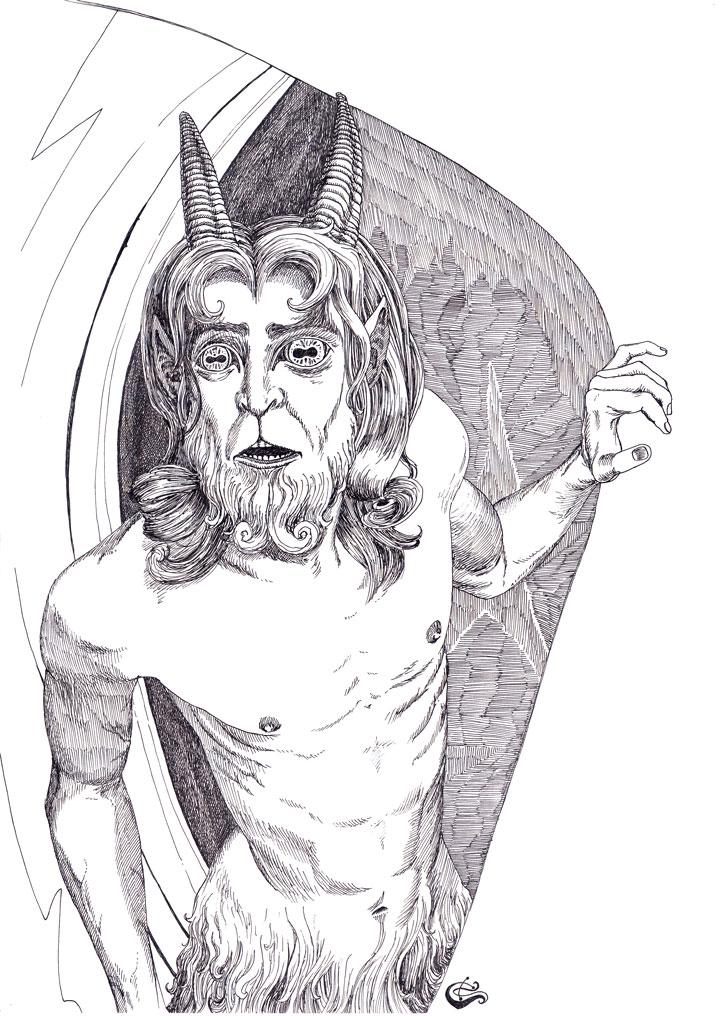 Great God Pan - BW by SergiyKrykun