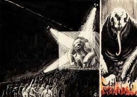 Procession of the Black Sloth by SergiyKrykun
