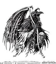 Crow Death by SergiyKrykun