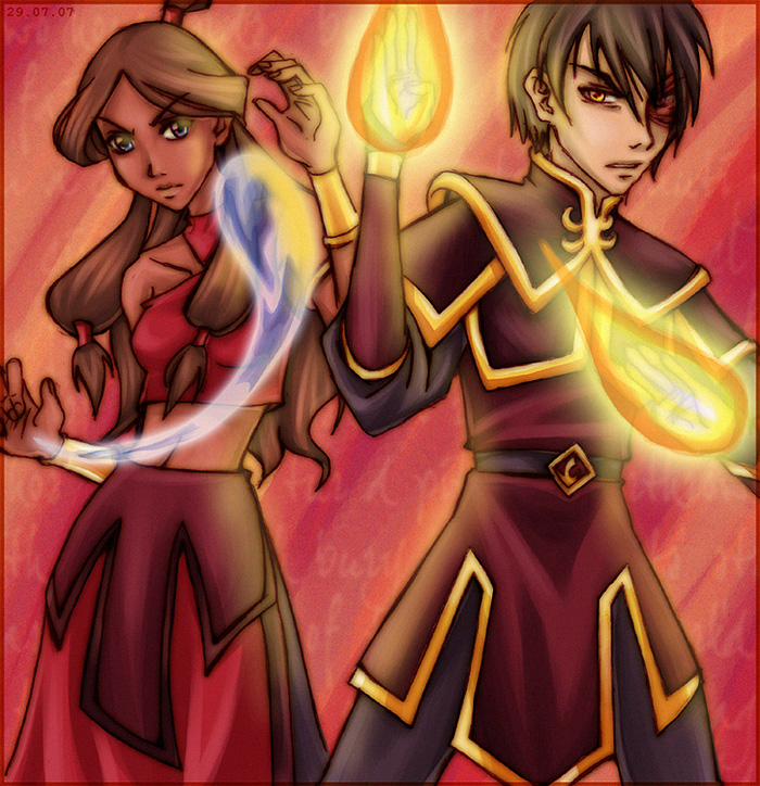 Avatar - Hot, hotter, Zutara by sora-ko