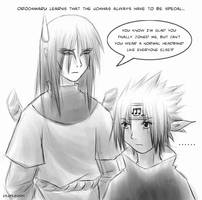 Naruto - Sasuke van Beethoven by sora-ko