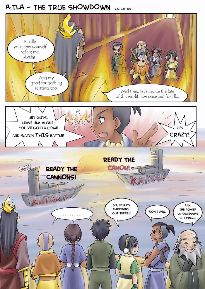 Avatar - The true showdown by sora-ko