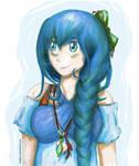 An Aquamarine Sea's Smile (Personification)