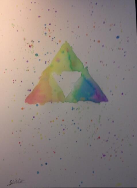 Rainbow Triforce by xXSkullfinderXx