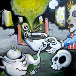 Keith Flints surreal Morning Tea by MushroomBrain