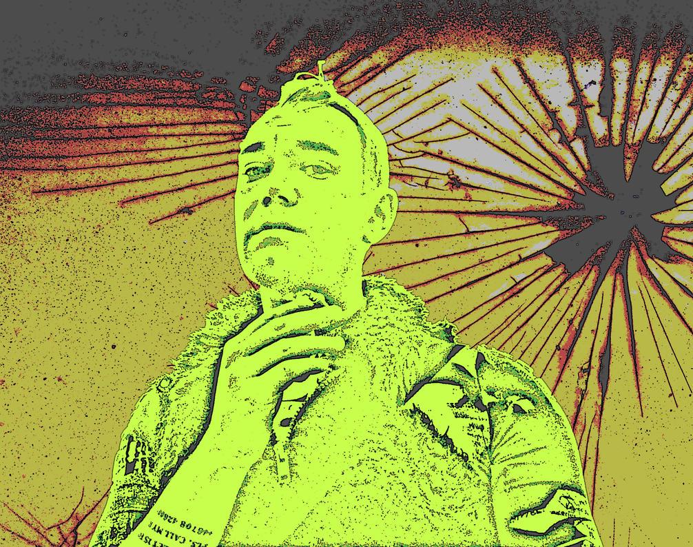 Rusty Solar Explosion Danny Hennesy posing by MushroomBrain