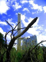 Industrial PowerPlant under a Clear sky by MushroomBrain