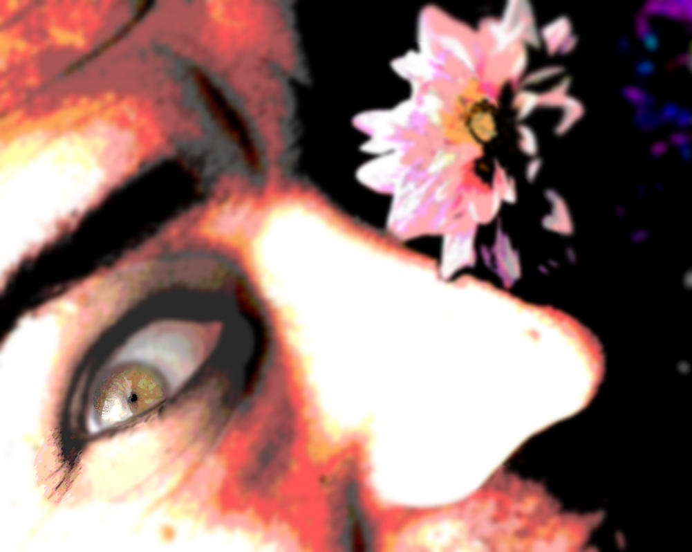 Flower and the sweet Eyed Beast by Danny Hennesy by MushroomBrain