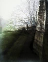 Mist in the Churchyard with hidden secret by MushroomBrain