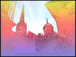 Wien Psychedelic St. Stephens Cathedral Vienna