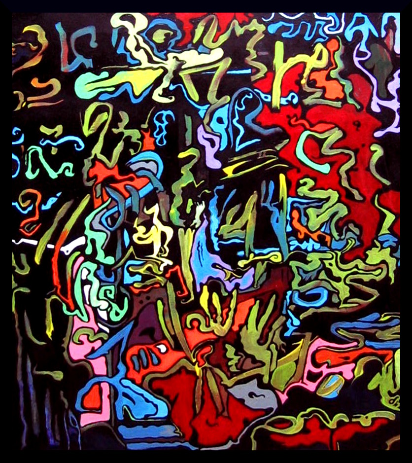 Quarks and Strings an Artists Imagination up close by MushroomBrain