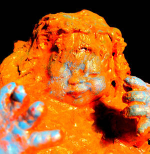Small Child sinking in paint (detail)