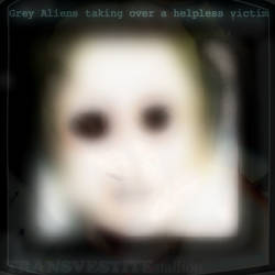 Grey Aliens taking over the Brain Design Ts promo