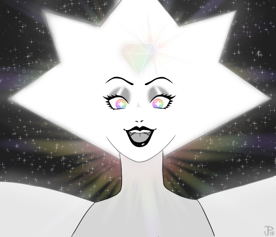 """pink! there you are!"" a bit late to the white diamond fanart party but i'm HERE NOW AND I CAN'T STOP DRAWING HER ••••••••••••..."