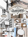 10 Signs Mockup - Restaurant and Coffee Shop