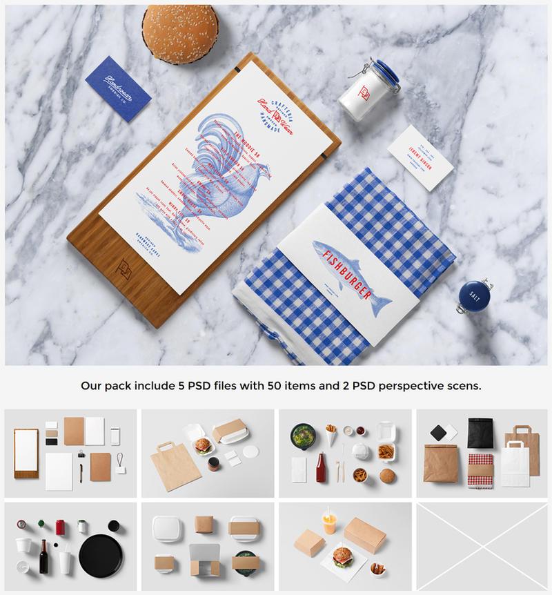 Burger bar branding mockup by forgraphic on deviantart for Food bar mockup