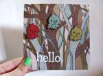 Little Hello Birdie Hello Card by dreamycards