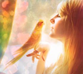 love birds by thevoiceofheart