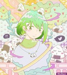 Onigiri Girl by dwikipan