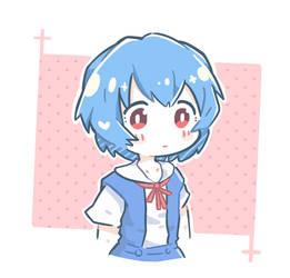 Chibi Rei Ayanami by dwikipan