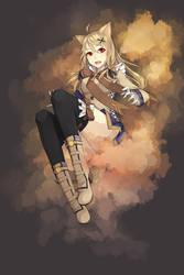 Ookami Girl by BlackBunii
