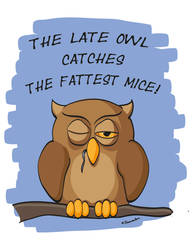 The Late Owl Catches The Fattest Mice!