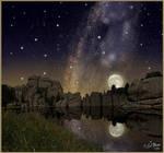 Sylvan Lake at Night