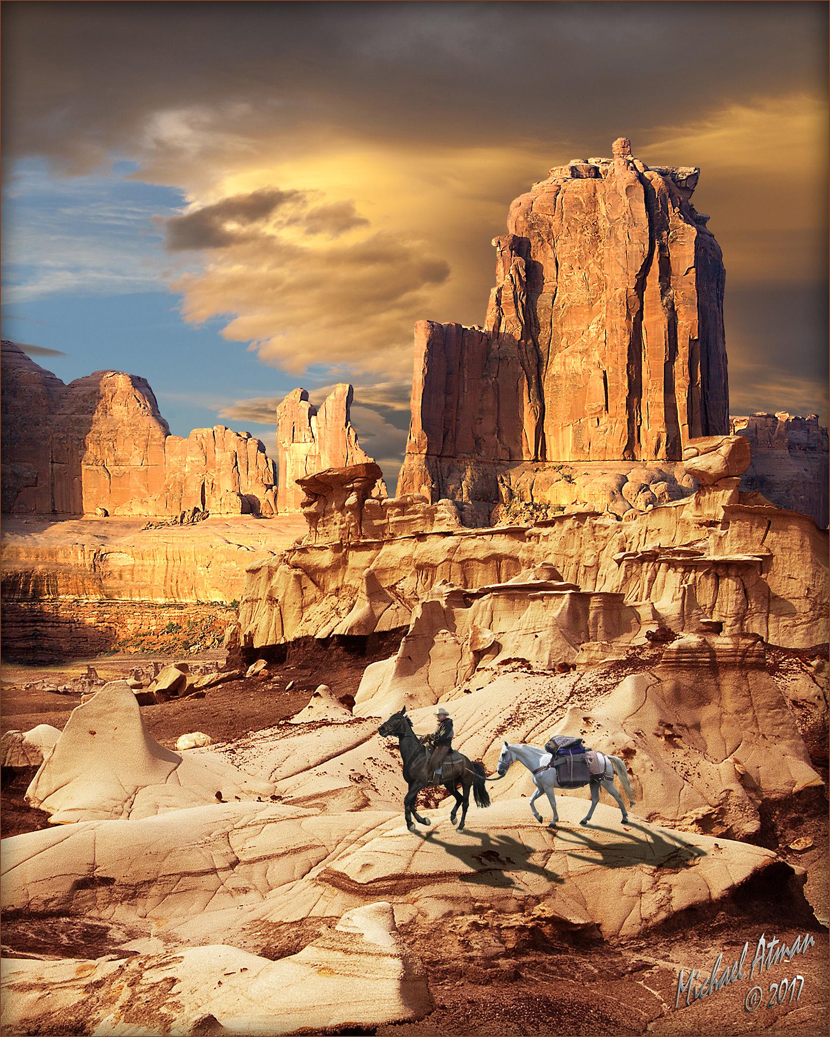 Bisti Cowboy by MichaelAtman