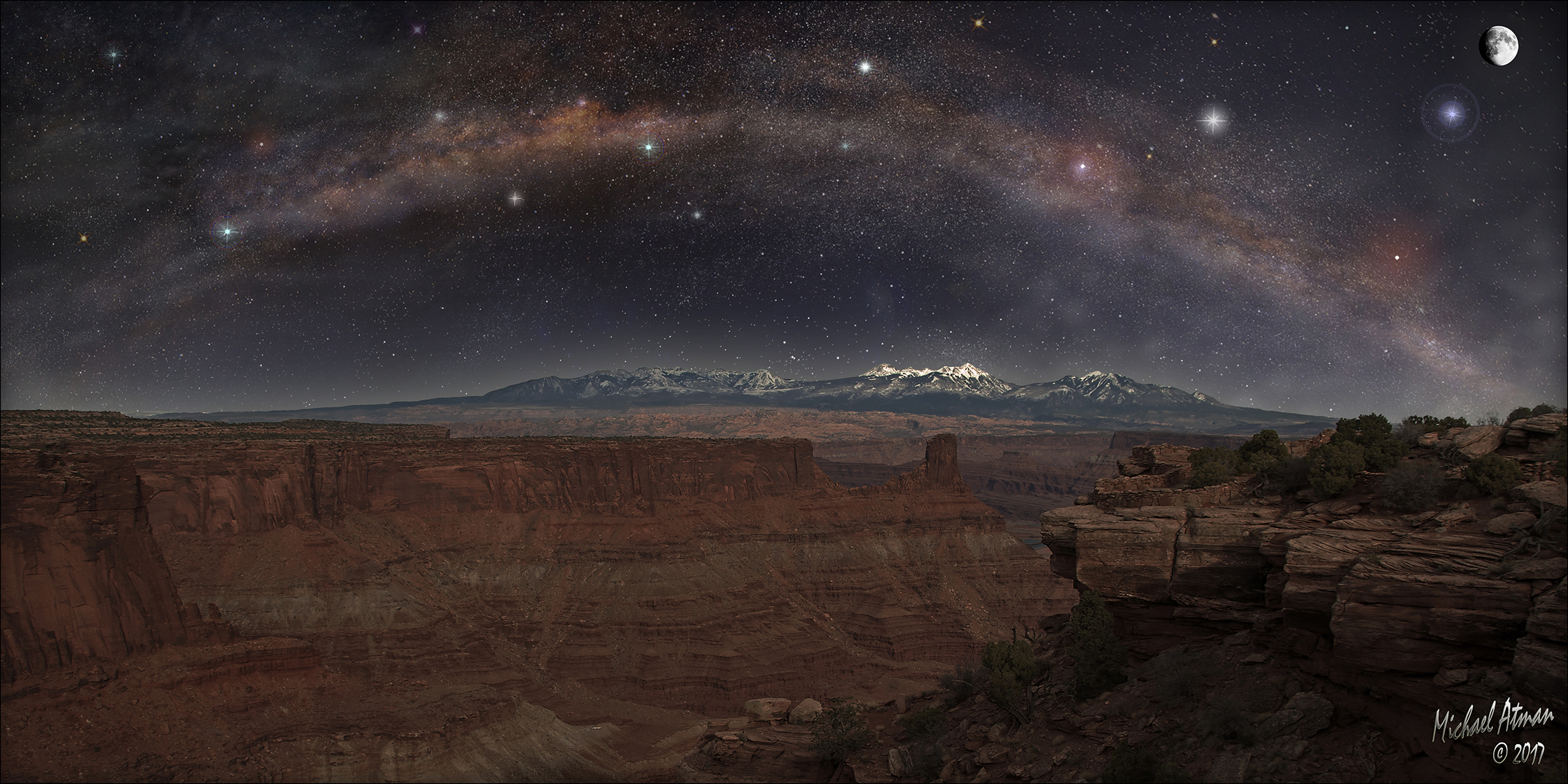Canyonlands Milky Way Pano by MichaelAtman