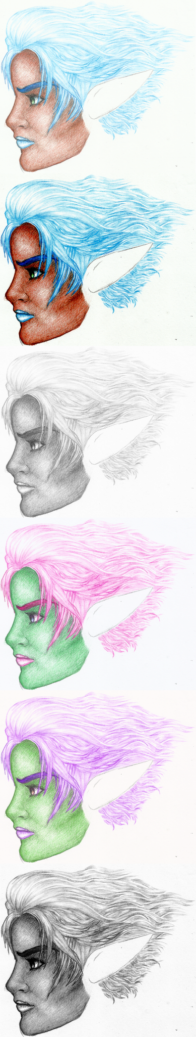 WIP: NEW Artwork Female Dark Elf Compilation by Pedigri