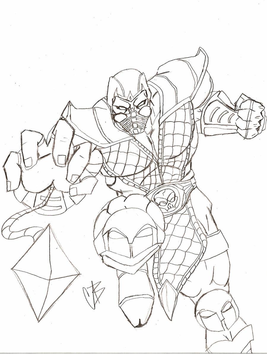 Dibujos Para Pintar Mortal Kombat 9 Dibujos Para Pintar